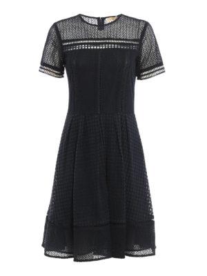 Michael Kors: short dresses - Cotton macramé sheer dress