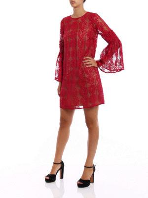 Michael Kors: short dresses online - Bell sleeve see-through lace dress
