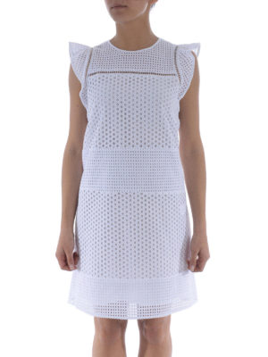 Michael Kors: short dresses online - Broderie anglaise short dress