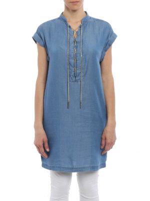 Michael Kors: short dresses online - Chain detail chambray dress