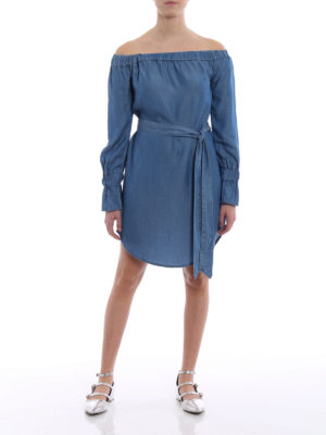 Michael Kors: short dresses online - Chambray off-shoulder dress
