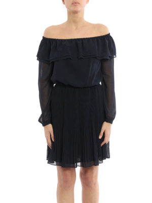 Michael Kors: short dresses online - Chiffon off the shoulder dress