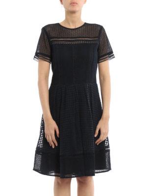 Michael Kors: short dresses online - Cotton macramé sheer dress