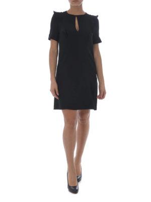 Michael Kors: short dresses online - Ruffled shoulder cady midi dress