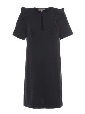 Michael Kors: short dresses - Ruffled shoulder cady midi dress