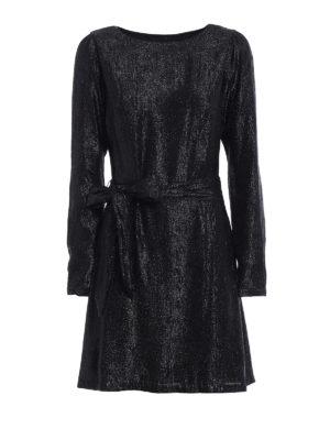 Michael Kors: short dresses - Shimmering long sleeve dress