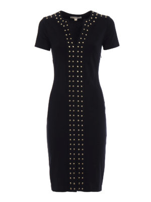 Michael Kors: short dresses - Stud detail jersey pencil dress