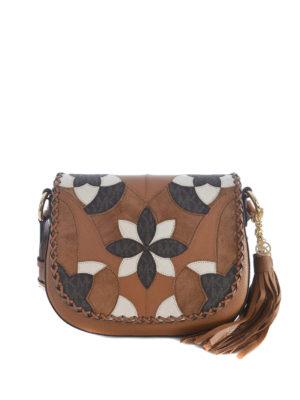 Michael Kors: shoulder bags - Brooklyn patterned flap leather bag