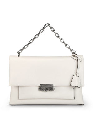 MICHAEL KORS: shoulder bags - Cece L white smooth leather bag