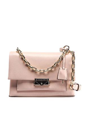 013e40b935 MICHAEL KORS: borse a spalla - Borsa Cece media in pelle liscia rosa chiaro