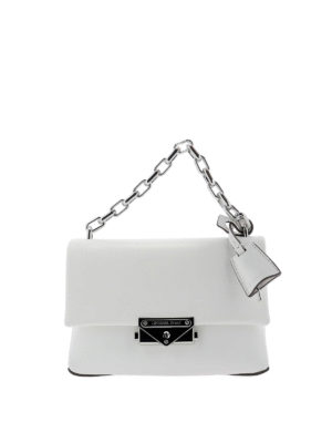 MICHAEL KORS: shoulder bags - Cece XS white smooth leather bag