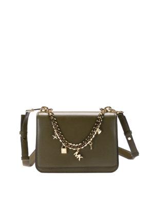 Michael Kors: shoulder bags - Charm Swag olive shoulder bag