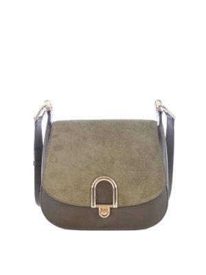 Michael Kors: shoulder bags - Delfina olive large shoulder bag