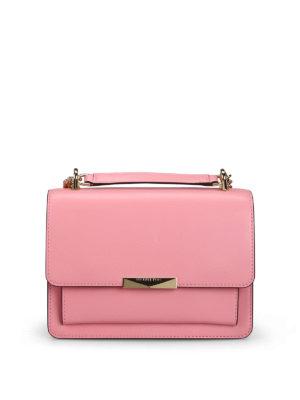 fc63679d7b2a MICHAEL KORS: borse a spalla - Borsa Jade L in pelle liscia rosa