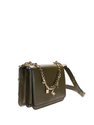 Michael Kors: shoulder bags online - Charm Swag olive shoulder bag