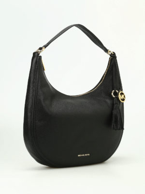 Michael Kors: shoulder bags online - Lydia hammered leather hobo bag