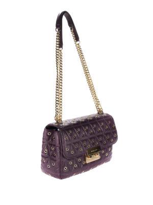 Michael Kors: shoulder bags online - Sloane quilted bag with eyelets