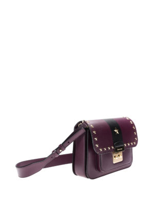 Michael Kors: shoulder bags online - Two-tone stud trimmed small bag