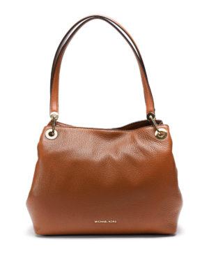 Michael Kors: shoulder bags - Raven hammered leather bag