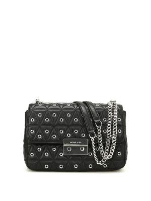 Michael Kors: shoulder bags - Sloan embellished quilted satchel