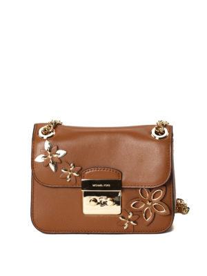 Michael Kors: shoulder bags - Sloan flower appliqué small bag