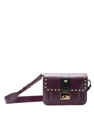 Michael Kors: shoulder bags - Two-tone stud trimmed small bag