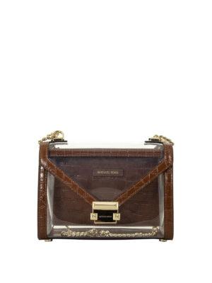ceb11dfd8668 MICHAEL KORS: borse a spalla - Borsa a spalla Whitney trasparente. Michael  Kors. Whitney transparent shoulder bag
