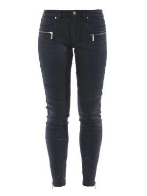 Michael Kors: skinny jeans - Coated denim stretch jeans