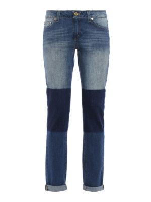 Michael Kors: straight leg jeans - Denim patchwork jeans