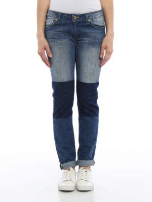 Michael Kors: straight leg jeans online - Denim patchwork jeans