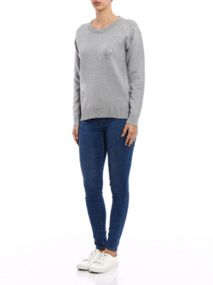 Michael Kors: Sweatshirts & Sweaters online - Rhinestone-stars over sweatshirt