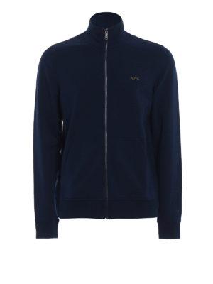Michael Kors: Sweatshirts & Sweaters - Stretch cotton zipped sweatshirt