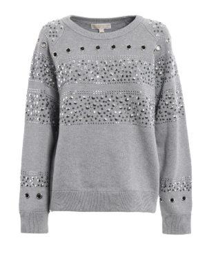 Michael Kors: Sweatshirts & Sweaters - Studded heavy sweatshirt