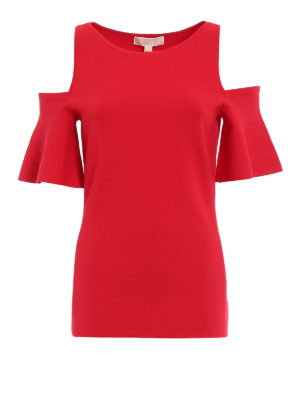 Michael Kors: t-shirts - Bell sleeved cut-out Tee