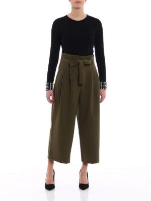 Michael Kors: t-shirts online - Embellished cuffs bodysuit