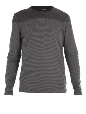 Michael Kors: t-shirts - Striped cotton long sleeved T-shirt