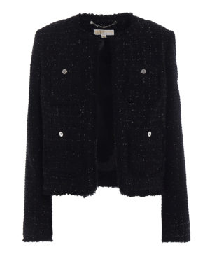 Michael Kors: Tailored & Dinner - Bouclé wool blend black jacket