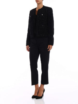 Michael Kors: Tailored & Dinner online - Bouclé wool blend black jacket