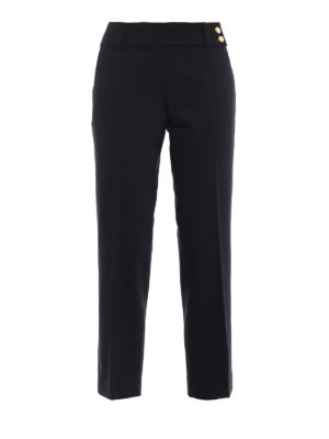Michael Kors: Tailored & Formal trousers - Light black wool crop trousers