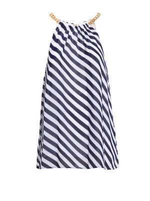 Michael Kors: Tops & Tank tops - Chain detailed striped top