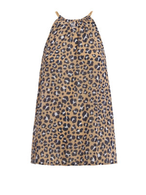 Michael Kors: Tops & Tank tops - Chain neckline animal print top