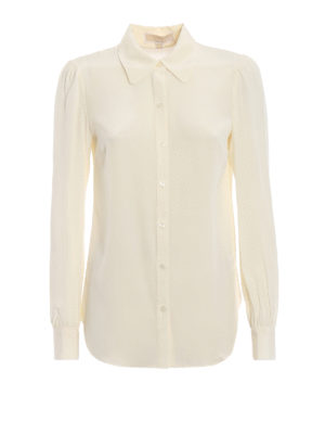25ad479c74f2b MICHAEL KORS  Top e canotte - Leggera camicia in seta trasparente