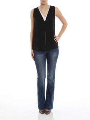 Michael Kors: Tops & Tank tops online - Bicolor silk top