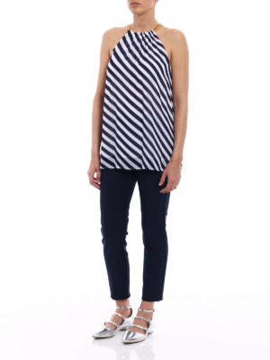 Michael Kors: Tops & Tank tops online - Chain detailed striped top