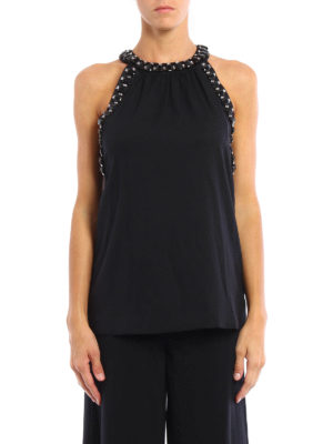 Michael Kors: Tops & Tank tops online - Halter neck jewel tank top