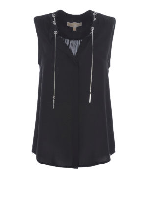 Michael Kors: Tops & Tank tops - Silk eyelet top
