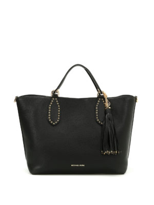 Michael Kors: totes bags - Brooklyn pebble leather large tote
