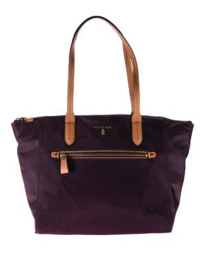 Michael Kors: totes bags - Dark purple nylon top zip tote