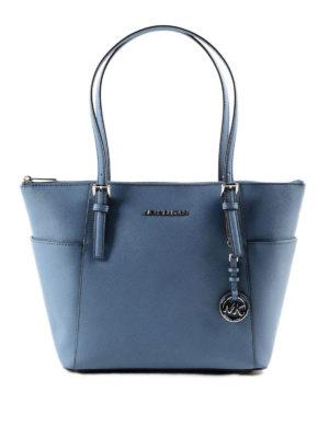 Michael Kors: totes bags - Jet Set saffiano leather tote