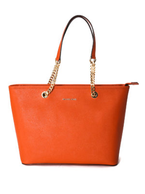 Michael Kors: totes bags - Jet Set Travel leather tote